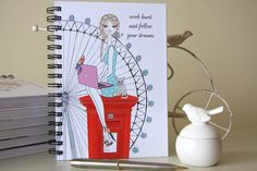 planner refills / notebooks / fashion illustration by PatriciaAtelier Happy Planner Cover, Daily Planner Pages, Daily Planner Printable, Mini Happy Planner, Filofax Refills, Arc Planner, Pink Laptop, Refillable Planner, Beautiful Notebooks