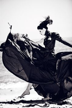 Beautiful darkness in motion, and a gorgeous gothic dress.