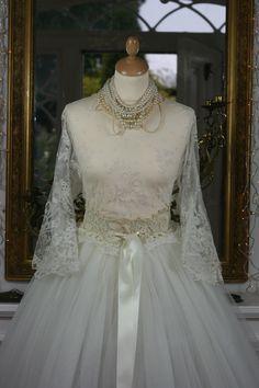 Antique Irish Crochet Lace Wedding Belt  Sheelin Antique Lace Shop