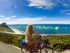 """Thanks to Girls LOVE Travel member @lexlaine91 for sharing this fantastic photo from a trip over the weekend to Rottnest Island off the West Australia Coast   """"Biking Rottnest Island WA: A short ferry ride off the mainland of Perth in Western Australia is Rottnest Island an absolute beach lovers bliss. The island doesn't allow any cars (only limited buses) so everyone must ride bikes to get around the Island. The vibe is chilled and the coastline magnificent the snorkeling and diving is some…"""