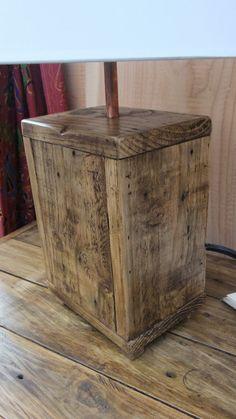 Rustic Wood Lamp Base Made From Reclaimed от NewPurposeDesign