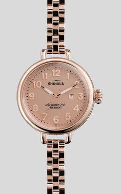 The Birdy rose gold watch   Shinola #madeinusa