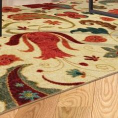 @Overstock.com - Vibrant Beige Multi Floral Rug (5' x 8') - This printed rug is very durable and vibrant. The contemporary design and brilliant shades of red and aqua are achieved through technological advances in machinery and nylon.  http://www.overstock.com/Home-Garden/Vibrant-Beige-Multi-Floral-Rug-5-x-8/6452181/product.html?CID=214117 $108.99