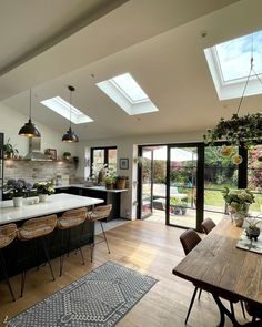 House Extension Design, House Design, Kitchen Room Design, Interior Decorating, Interior Design, House Inside, House Extensions, Scandinavian Interior, Home Living Room