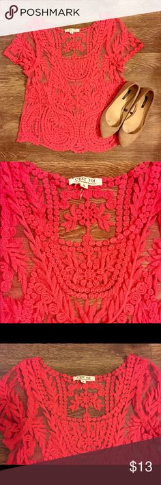 Pink Lace Top Pink Lace Top Tops