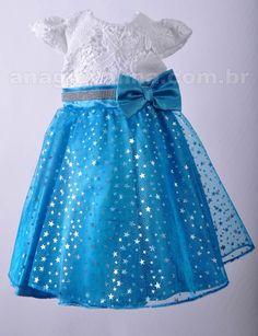 Vestido infantil de festa Frozen - descubra o encanto desta coleção aqui: http://anagiovanna.com.br/produtos/1/vestidos-infantil/60/frozen