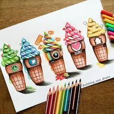 Risultati immagini per social media ice cream drawing