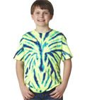 Gildan Tie-Dye Youth Spider Tee : Hand-dyed with superior color-fast dyes, this spider tee is colorful enough to stand out in any crowd.