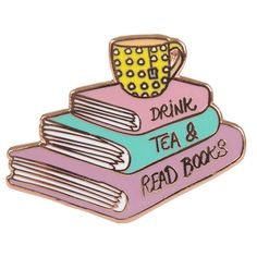 Fun pin for anyone with a love of tea and literature. Made from hard enamel and secured using a clutch pin. Illustrated by Morgane Carlier and...