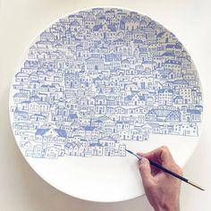 Regrann from @mrchandlerhouse - #handpainted #ceramics #handpaintedceramics#loveceramic #tableart #tableware #artisan #atelier #ceramique…