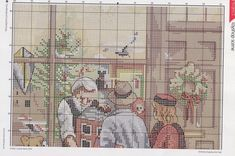 Christmas Cross, Winter Christmas, Window Shopper, Stitch 2, Christmas Shopping, Cross Stitch Patterns, Vintage World Maps, Projects To Try, Kids Rugs