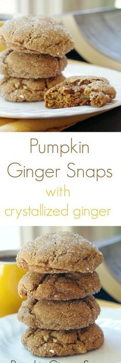 Pumpkin Ginger Snaps with Crystallized Ginger