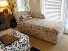 Lazy Liz on Less: DIY Storage Chaise Lounge