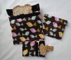 Birds Reusable Snack and Sandwich Bags Reusable by Shoppebylola, $15.00