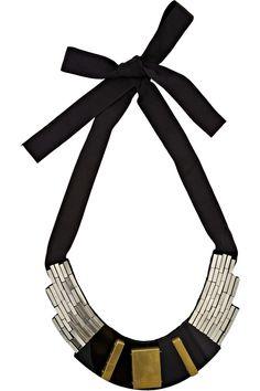 Beaded bib necklace by Oscar de la Renta
