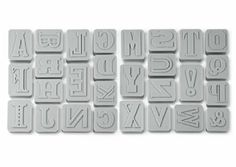 Fred Letterpressed Letters Cookie Cutters, Grey: Amazon.co.uk: Kitchen & Home
