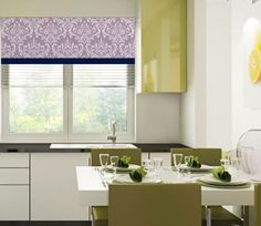 Banded Straight Curtain Window Valance Wisteria by OldStation
