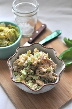 Quinoa Chicken Salad. Swap in a dollop of greek yogurt for mayonnaise!