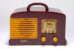 Catalin FADA L-56 Radio in Plum + Butterscotch