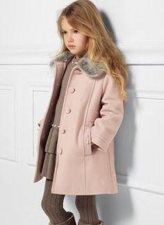 Girls' Vintage Color Block Collar Coats - June 22 2019 at Kids Outfits Girls, Cute Girl Outfits, Kids Girls, School Fashion, Kids Fashion, Style École, Childrens Coats, Girls Clothing Stores, Girl Clothing