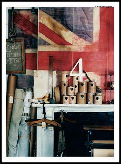 Union Jack - love the vintage industrial look