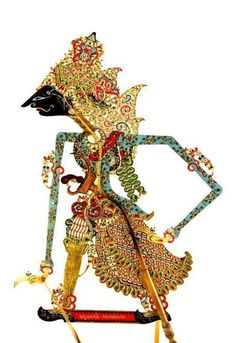 Wayang Puppet (Kulit) -Made of wood, leather, and paint -19th Century  -Wisnu is the god of the universe and his main job is to preserve the universe in all his power.