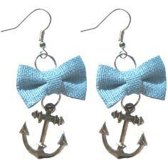 Hayley & Co Nautical Bow & Anchor Earrings ~ $9.17