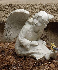 Another great find on #zulily! 8'' Cherub & Goldfinch Garden Figurine #zulilyfinds $19.99
