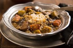 How about a little Thanksgiving gumbo? Vegan Mushroom and Tempeh Gumbo #blogherholidays