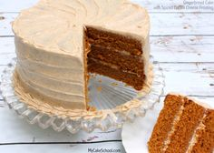 Gingerbread Cake {Scratch} with Spiced Cream Cheese Frosting Cake Icing, Cupcake Cakes, Cupcakes, Just Desserts, Delicious Desserts, Blackberry Cake, Gingerbread Cake, Gingerbread Recipes, Homemade Cakes