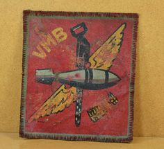 Original WWII VMB-612 USMC Bomber Squadron Patch