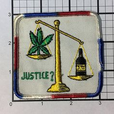 Vintage 1970's Justice patch never sold and stored by RatsHole