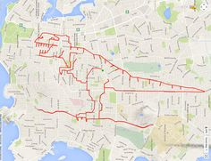 In avid Victoria, British Columbia, Canada, cyclist Stephen Lund has found a new artistic outlet using only his bike and a GPS — called GPS Doodles. Lund, Drawing People, Drawing S, Cycling Magazine, Tumblr Pattern, Graffiti, Doodle Art Letters, Scale Tattoo, Cute Friends