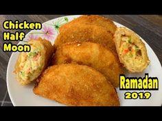 Chicken Half Moon Recipe /Ramadan Special By Yasmin Cooking Ramadan 2019 - video Halal Recipes, Donut Recipes, New Recipes, Cooking Recipes, Easy Dinner Recipes, Easy Meals, Moon Pies, Half Moons, Ramadan Recipes