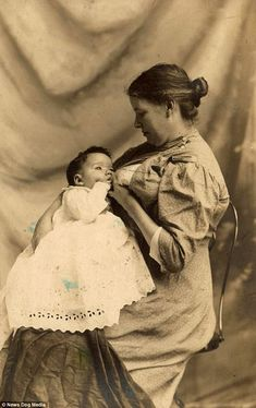 vintage everyday: Victorian Breastfeeding 29 Lovely Photos of Moms Nursing Babies from between the and