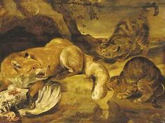 Frans Snyders, A Fox Defending its Kill from Wild Cats