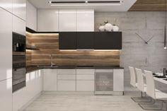 32 Stunning Modern Contemporary Kitchen Cabinet Design - Home Design Contemporary Kitchen Cabinets, Kitchen Remodel, Kitchen Decor, Contemporary Kitchen, Modern Kitchen Cabinet Design, Kitchen Layout, Modern Kitchen Design, Kitchen Renovation, Kitchen Design