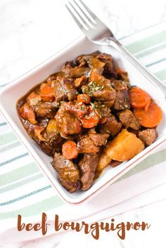 Easy Slow Cooker Beef Bourguignon Recipe