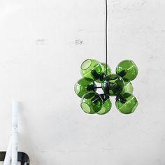 Tage pendel - Tage pendel - glas grön/svart