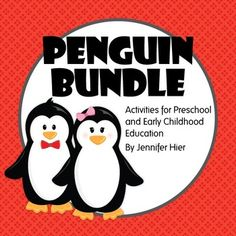 Bundle of preschool, pre-k, and busy bag penguin learning activities.
