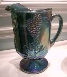 Indiana Glass Grape Carnival Pitcher