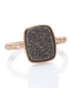 Nadia Rectangular Ring, Black Iron (Stylist Pick & CUSP Most Loved!)