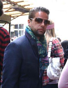 Stylish scarf for a stylish gent
