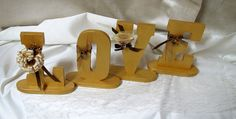 Wooden love signs Wedding Love signs by lisesimplecreations