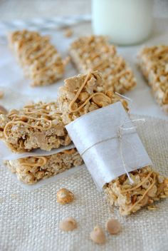 Peanut Butter Granola bars on MyRecipeMagic.com and shugarysweets.com