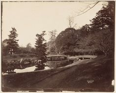 Anonymous | Gezicht in Fukiage tuin in Tokyo, Anonymous, 1870 - 1890 |