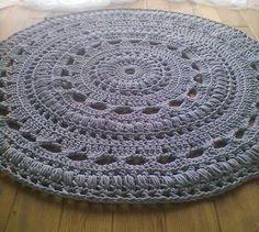 crochet rug by lorka., via Flickr
