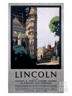 Lincoln on the LNER Giclee Print at Art.com