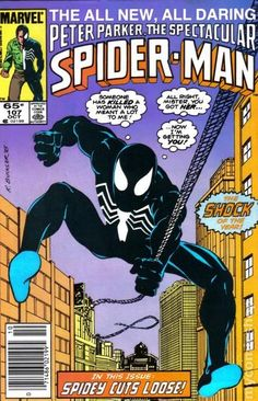 Spectacular Spider-Man (1976 1st Series) 107  Marvel Comics Peter Parker Comic book covers Super Heroes  Villians  Amazing Astonishing silver bronze modern age