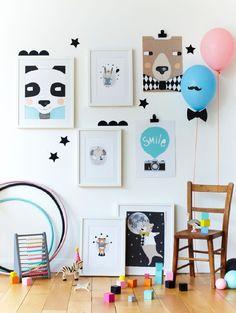 Kerry Laytonin printit piristävät lastenhuoneen sisustusta lempeillä eläinaiheillaan. Katso kuva, niin näet tarkemmat tuotetiedot.